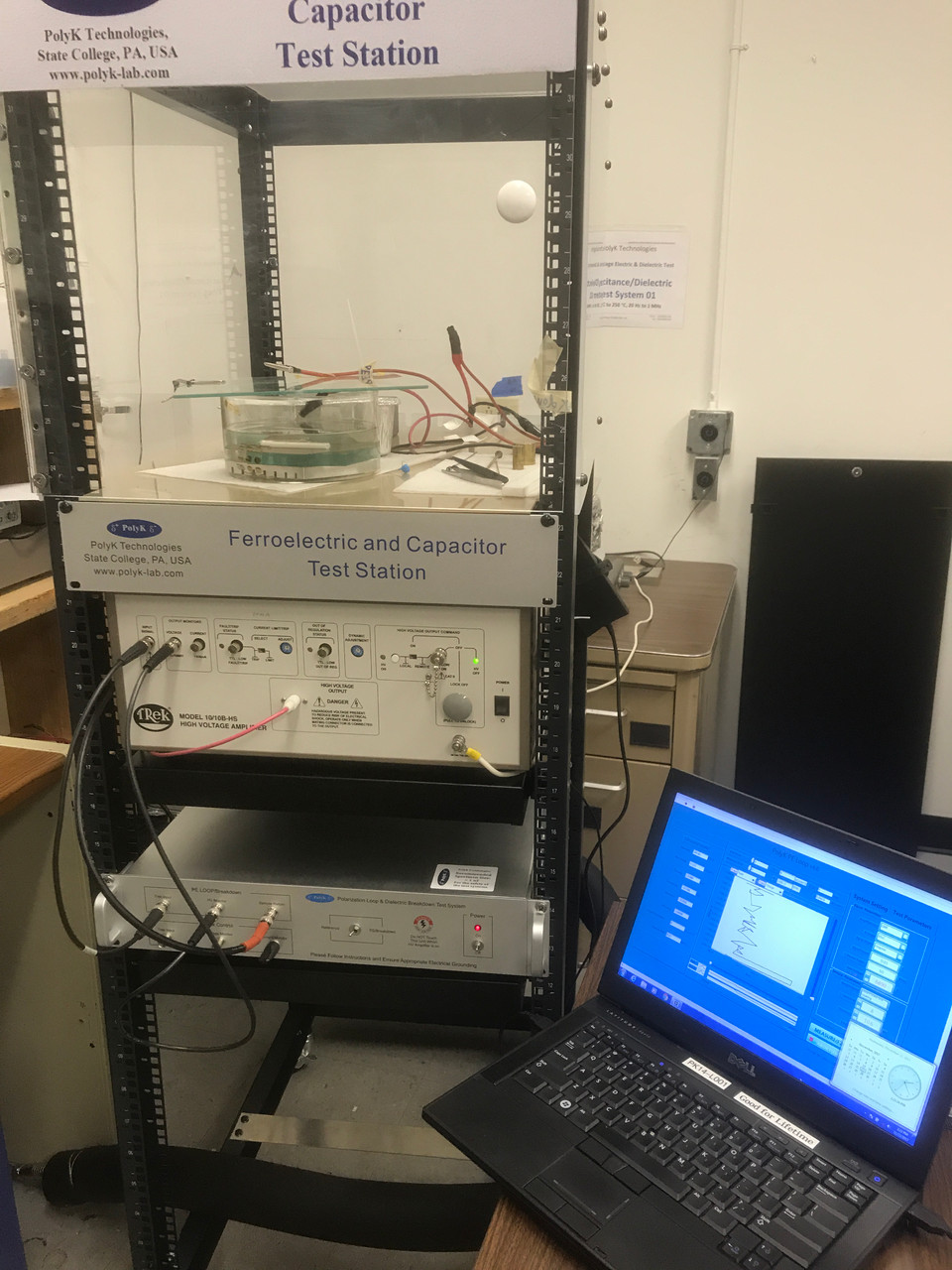 Ferroelectric Polarization Loop and Dielectric Breakdown Test System