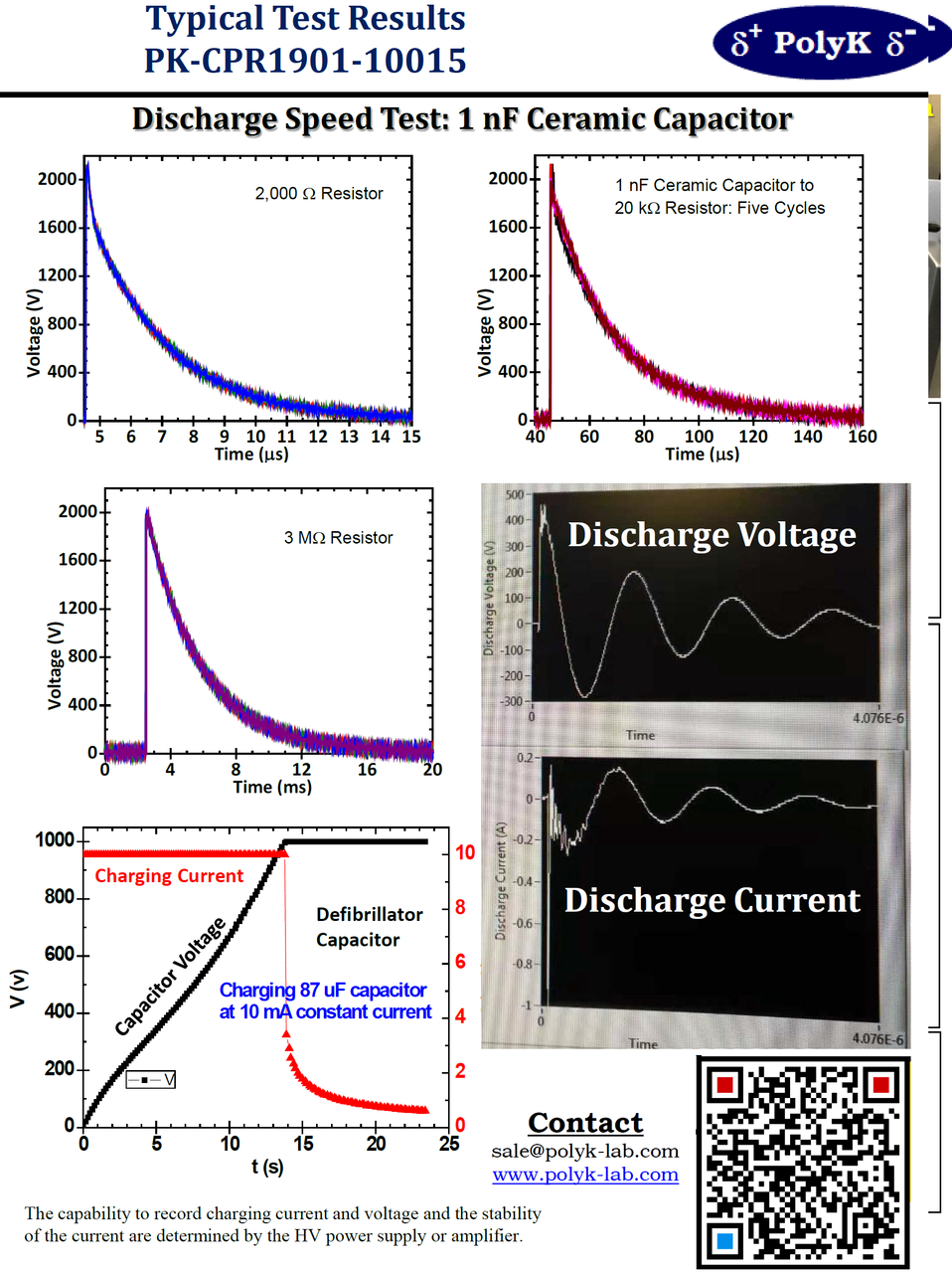 Capacitor Dielectric Materials Charge - Discharge Test System
