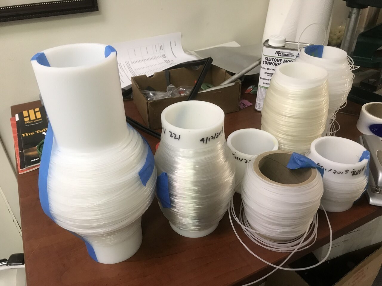 10 m 3D Printing Filament THV 221 fluoro thermoplastic Optical Transparent Tm 120 C
