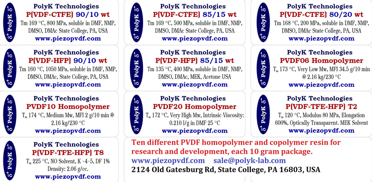 PVDF Homopolymer and Copolymer Resin Kit For R&D