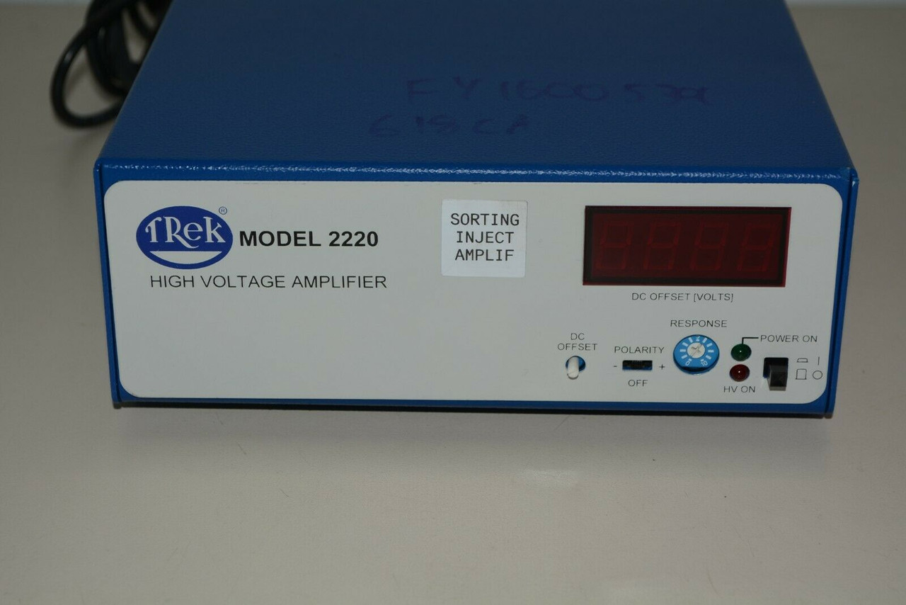Refurbished Trek 2220-CE High Voltage Amplifier +/-2000/10mA Warranty all Cables