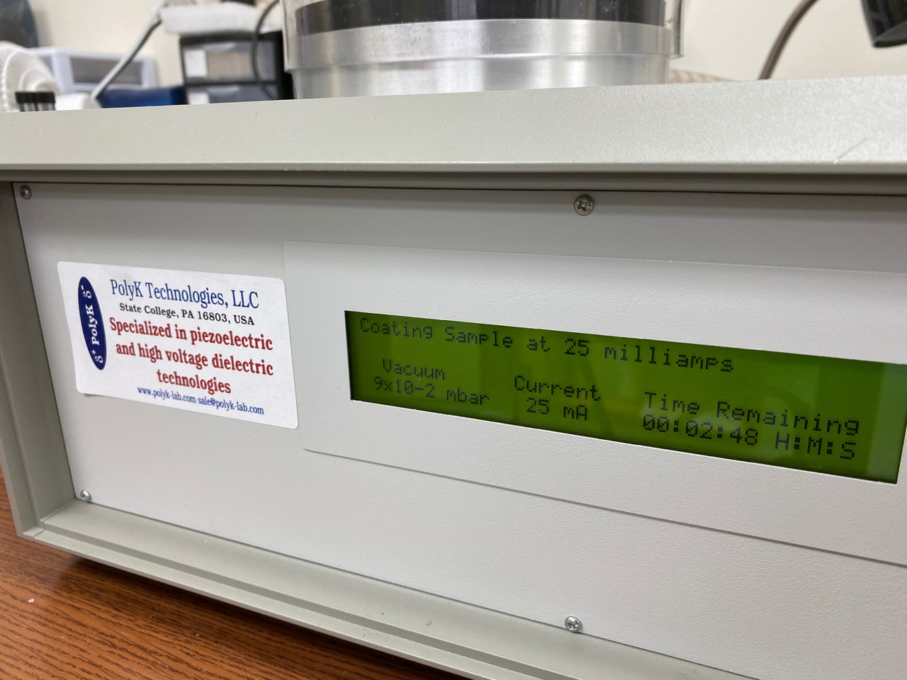Emitech Quorum Sputtering Machine with Edwards RV8 Pump and NEW Gold Target
