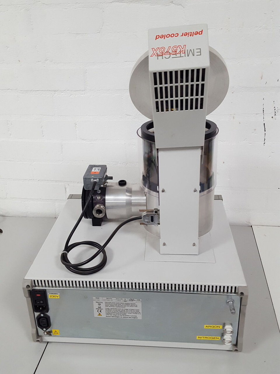 Emitech Quorum Sputter Coater K575X with Turbo Pump and Pfeiffer Duo 2.5 Pump, Gold & Silver Target, DUEL head