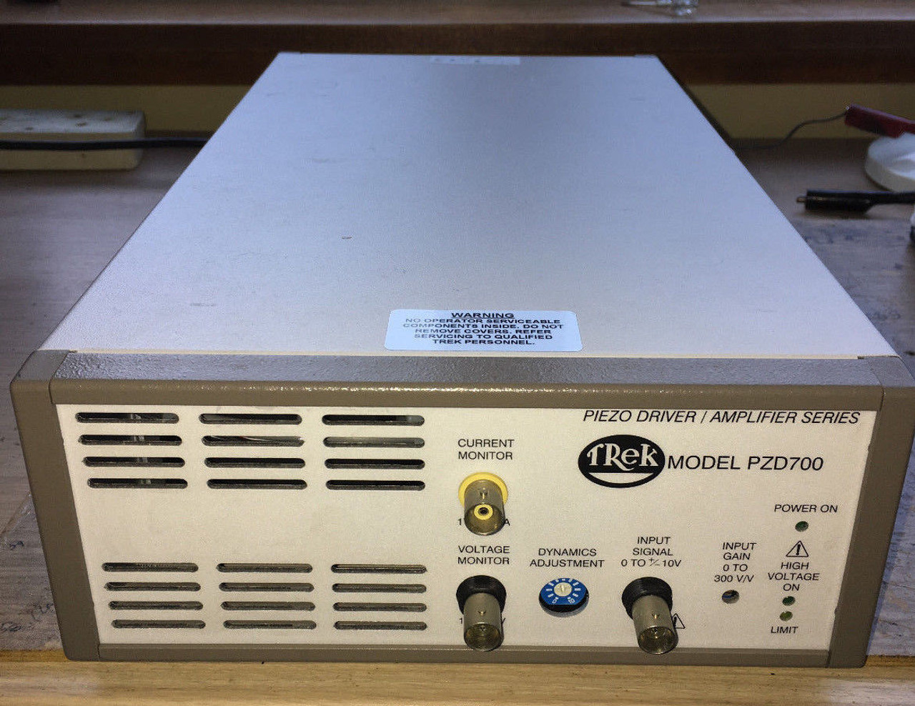 Trek PZD700 High Voltage Amplifier and Piezo Driver, +/-700V, 100 mA, Refurbished, with cables and warranty