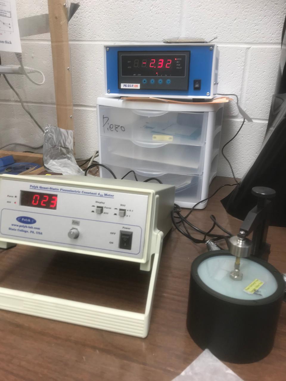 Piezoelectric coefficient d33 measurement service, up to 10 samples