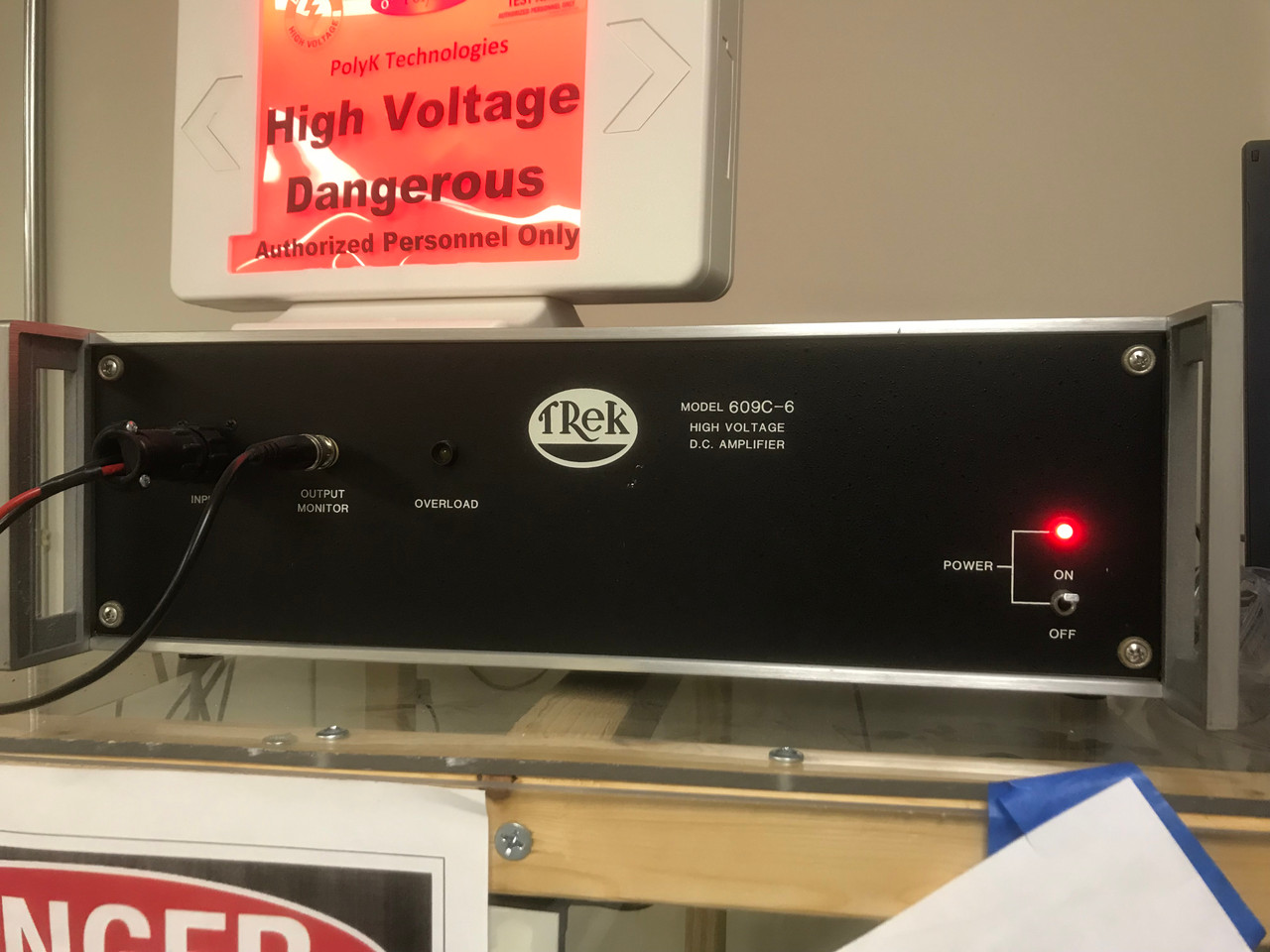 Trek 609C High Voltage Amplifier, Refurbished, with cables, manual and warranty
