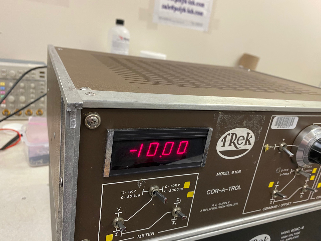 Trek 610B High Voltage Amplifier, Refurbished, +/-10kV/2mA with cables and warranty