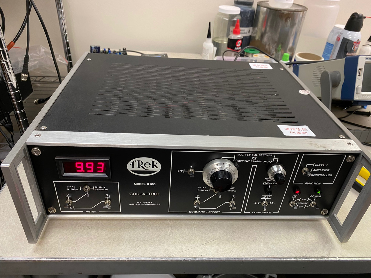 Trek 610C High Voltage Amplifier, Refurbished, +/-10kV/2mA with all cables and warranty