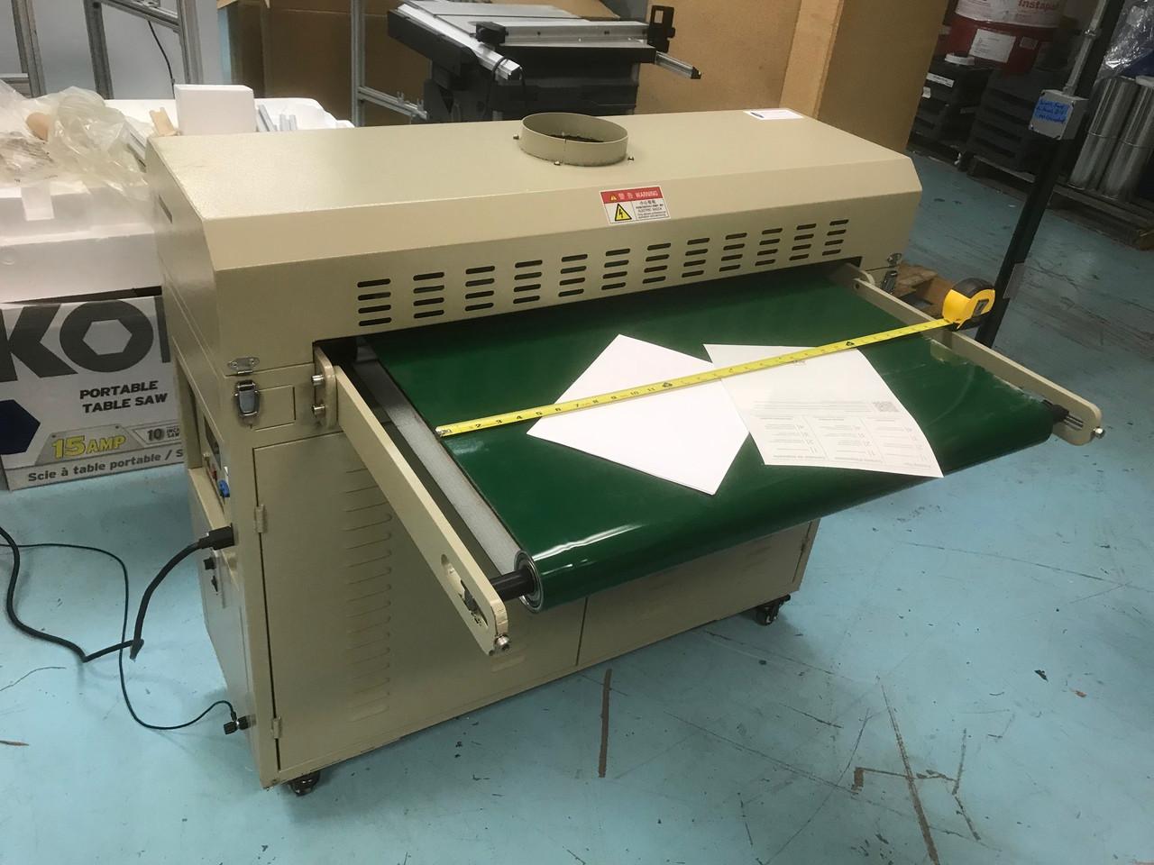 Corona Treater paper plastic sheet non-woven filter 600 mm wide conveyor, 3000 W