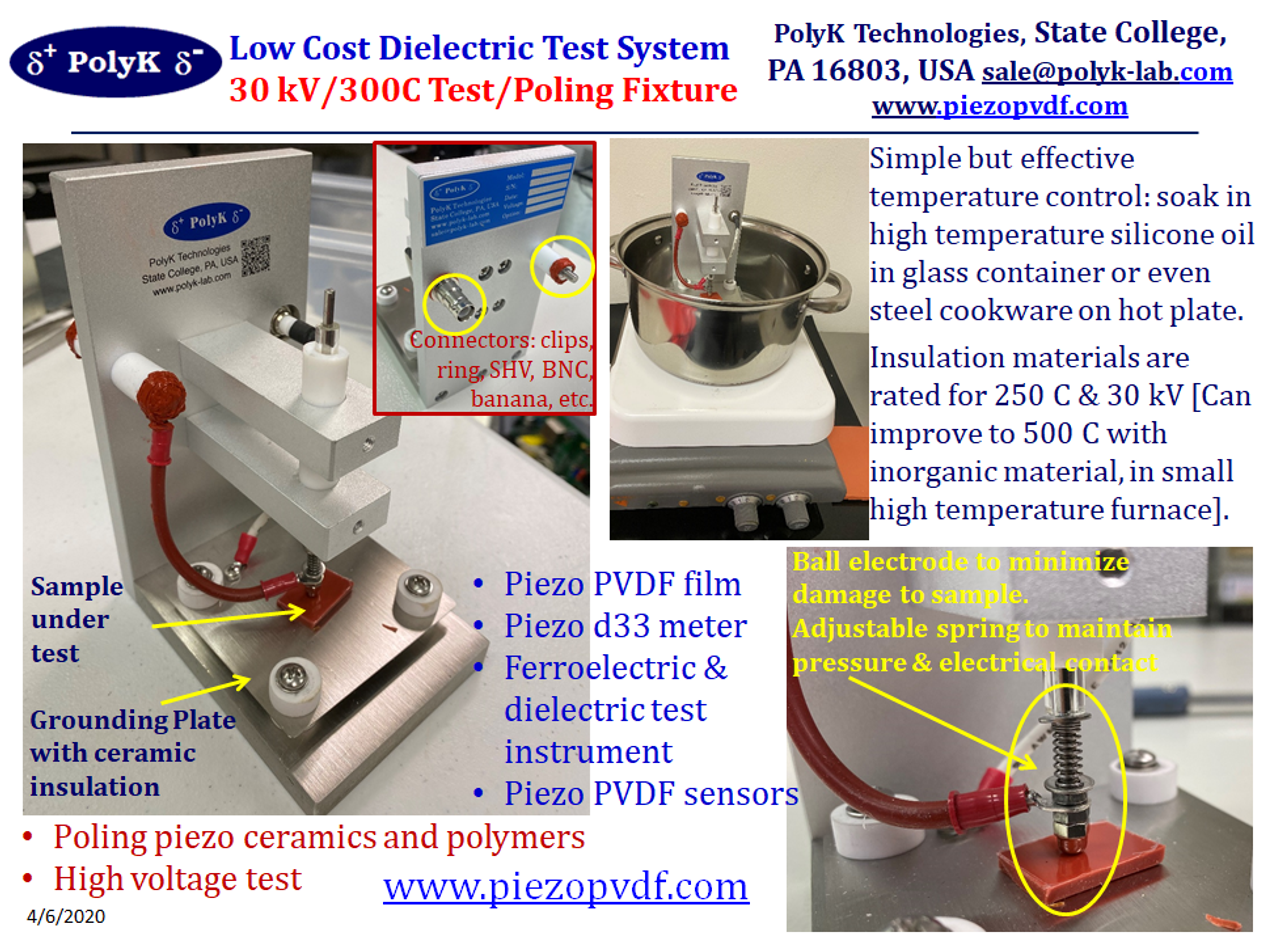 Test Fixture for Piezoelectric Poling and High Voltage Ferroelectric Test