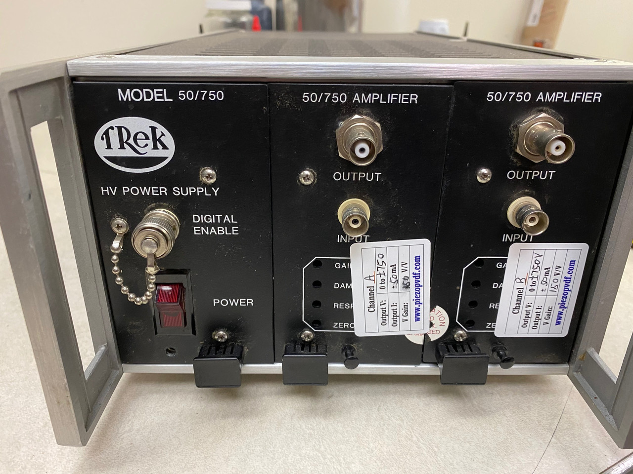 Trek 50/750 (PZD700) High Voltage Amplifier and Piezo Driver, +/-750V, 50 mA, Refurbished, with cables and warranty