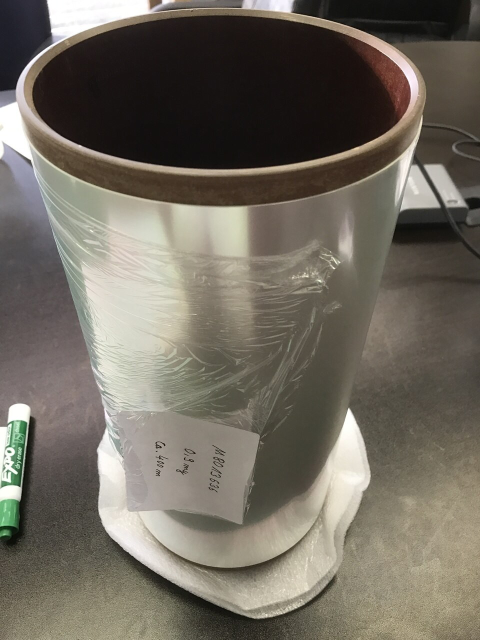 Polyester Mylar film, 0.9 um thick 315 mm wide >300 m long
