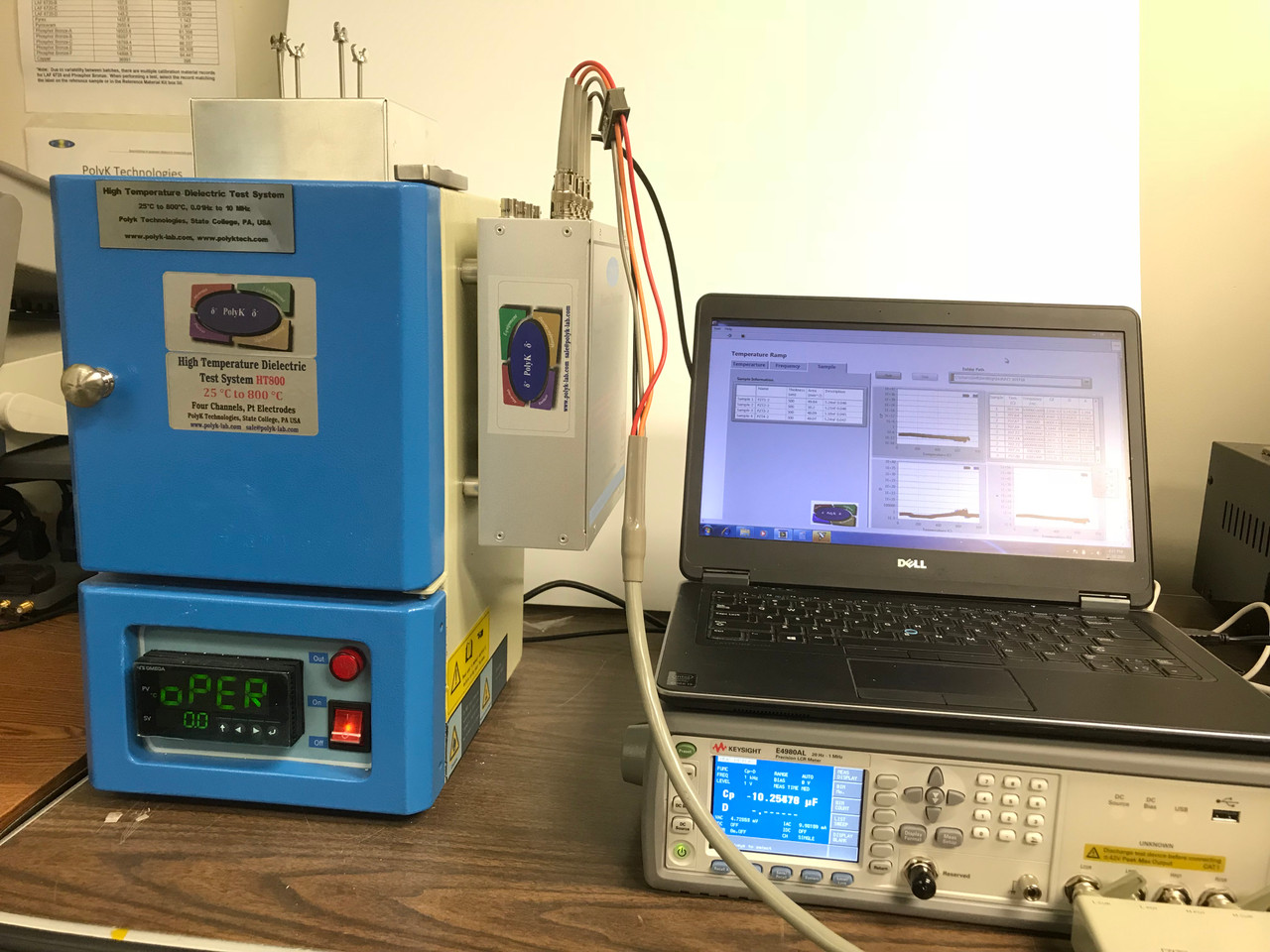 Turnkey Dielectric Measurement System with Temperature up to 800 C and Software