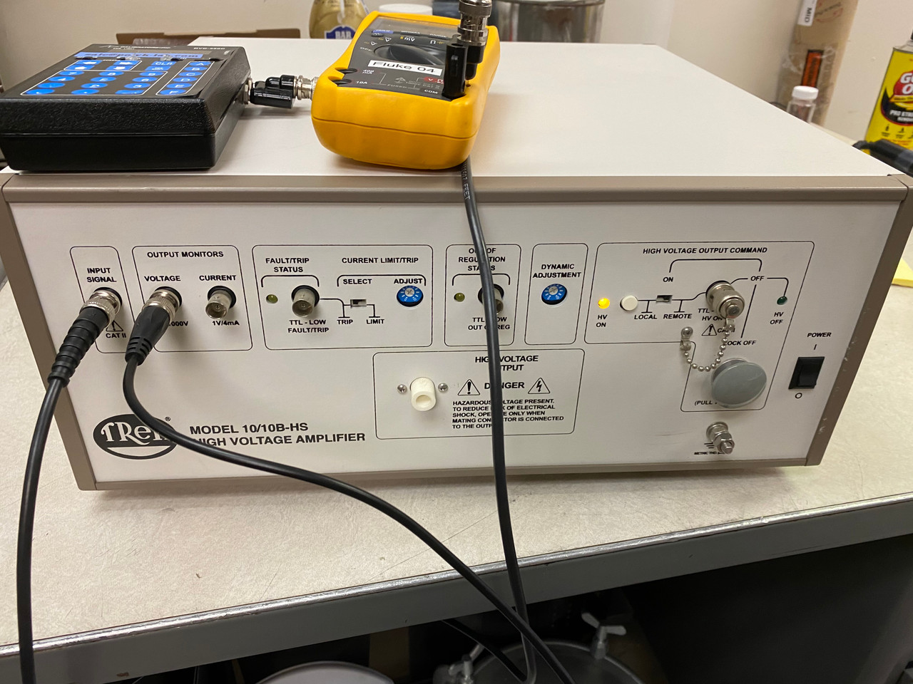 Trek Model 10/10B-HS High Speed High Voltage Power Supply and Amplifier, +/-10 kV, 10 mA/40mA, Refurbished, with cables, instruction and warranty