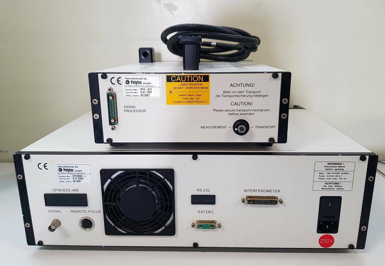 Polytec OFV-2200-L + OFV-511 Laser Vibrometer Velocity and Displacement