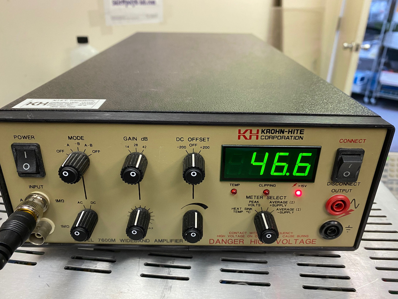 Krohn-Hite Models 7600M Wide Band High Frequency Power Amplifier +/-200 V 1 MHz