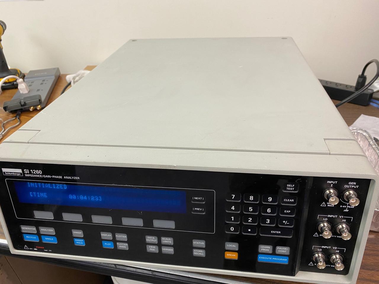 Solartron 1260 Impedance Gain/Phase Analyzer, Used but working