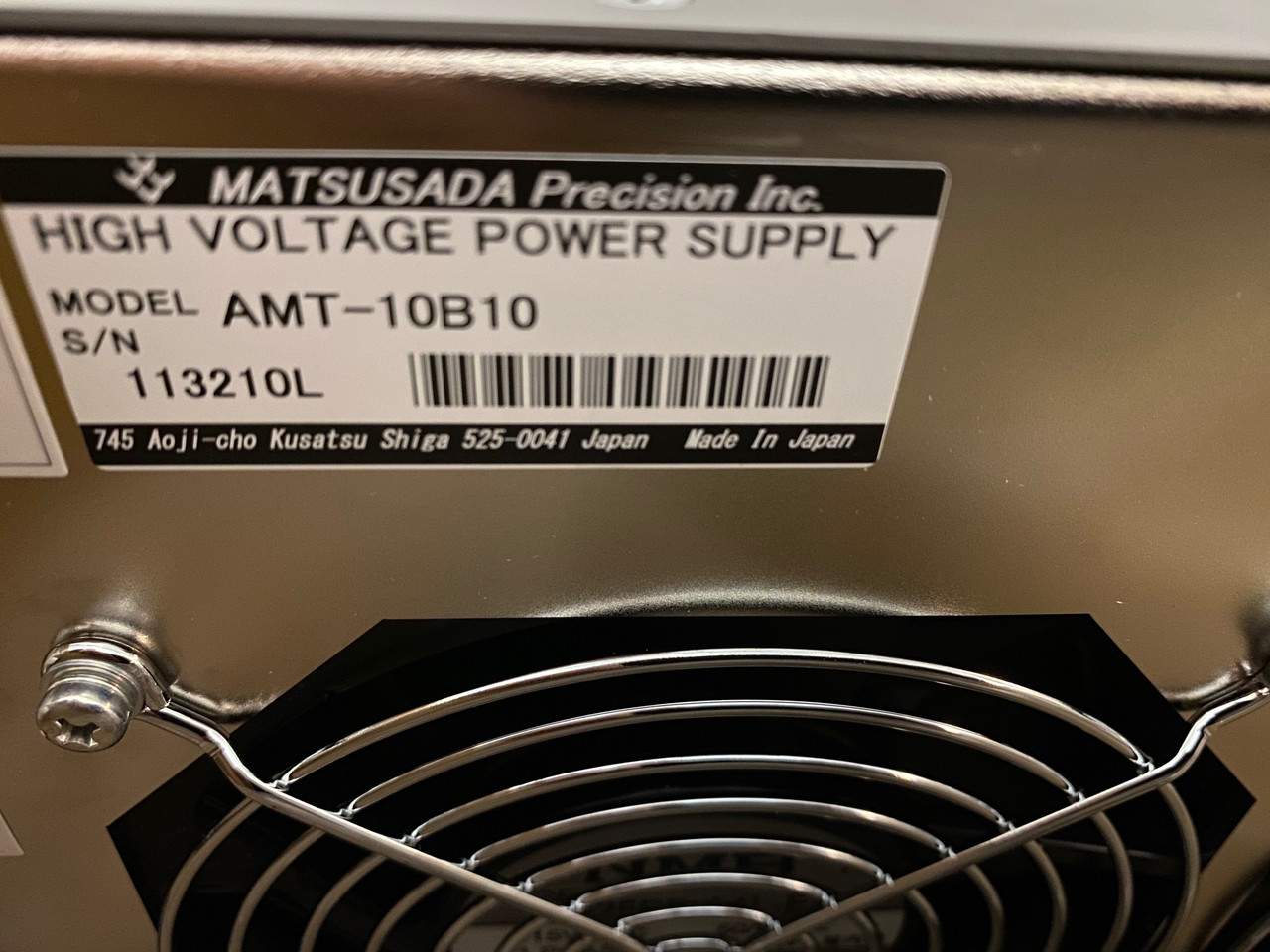 NEW Matsusada High Voltage Amplifier, AMT-10B/10  10 kV/10mA 360 V/us