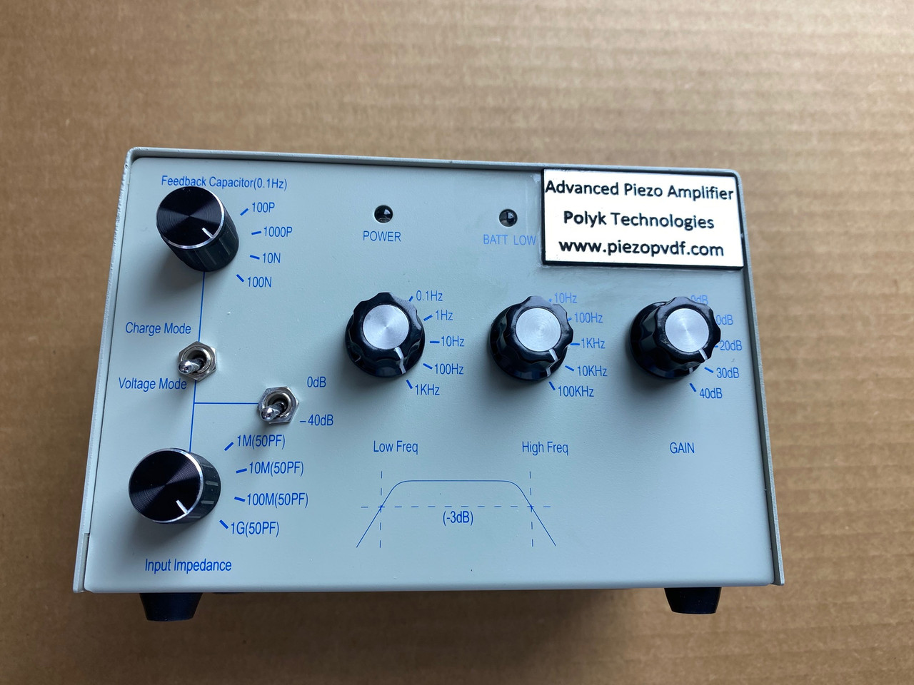 Advanced Amplifier for Piezo and Pyro Sensor with both charge and voltage mode
