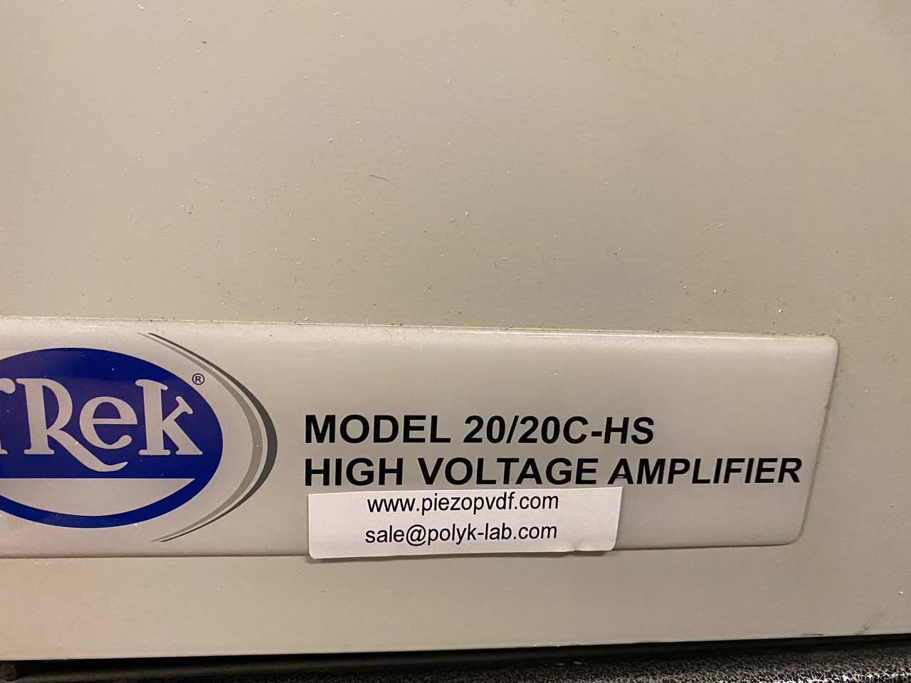 Trek 20/20C-HS +/-20 kV/60 mA High Voltage Amplifier & Power Supply with All Cables, Refurbished