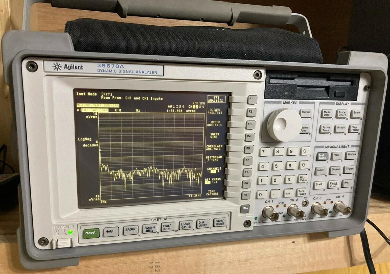 Agilent HP 35670A Dynamic Signal Analyzer FFT Four Channels- Opt 1D2, 1D4, AY6