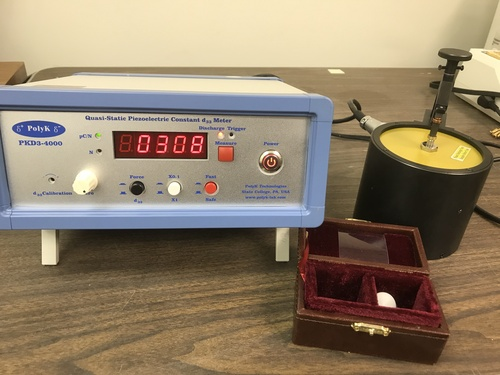 Piezoelectric meter PKD3-4000 to measure d33 piezoelectric constant, up to 400 or 4000 pC/N