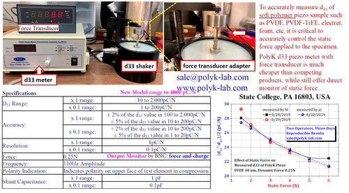 Static Force Sensor PK-D3-F10N for Piezoelectric meter 0 to 10 N