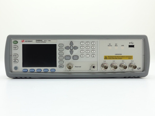Used Keysight Used E4980AL Precision LCR Meter - 20 Hz to 1 MHz (Agilent) with test fixture and software
