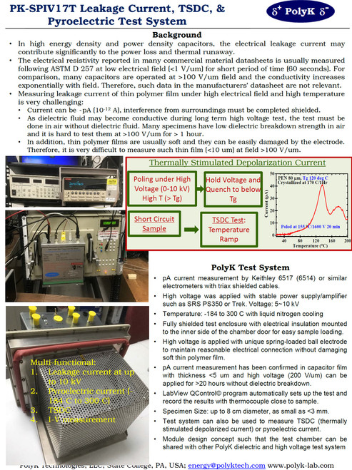 Leakage Current, TSDC, & Pyroelectric Test System