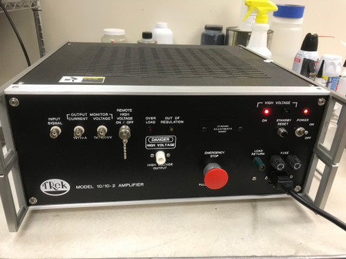Trek Model 10/10-2 High Voltage Power Supply and Amplifier, +/-10 kV, 10 mA, Refurbished, with cables, instruction and warranty