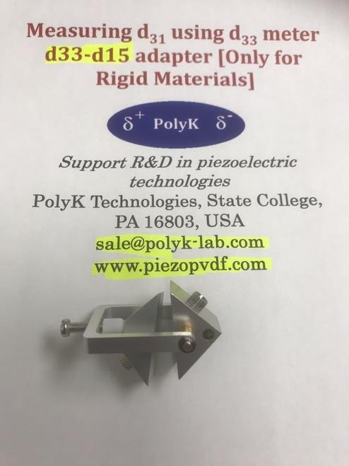 Piezoelectric d33 - d15 adapter for d33 meter