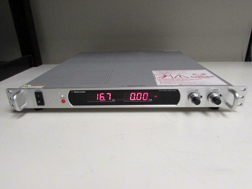 Matsusada Precision High Voltage Power Supply +30 kV, 10 mA, Current Limit, With Cables