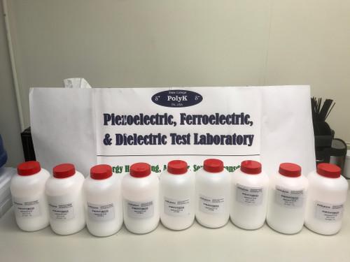 Piezotech P(VDF-TrFE) Copolymer Resin 100 gram, 70/30 mol, 75/25, or 80/20 mol