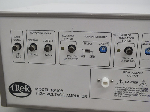 Trek Model 10/10B High Voltage Power Supply and Amplifier, +/-10 kV, 10 mA, New Calibration, Refurbished, with cables, instruction and warranty