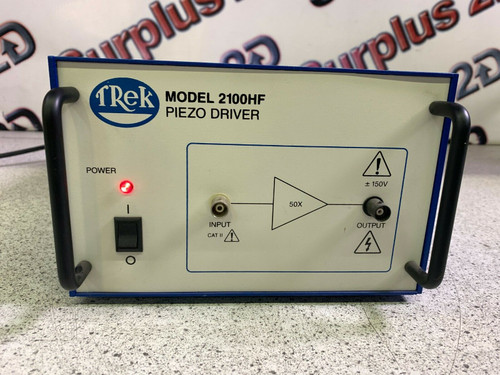 TREK MODEL 2100HF High Frequency Power Amplifier Warranty