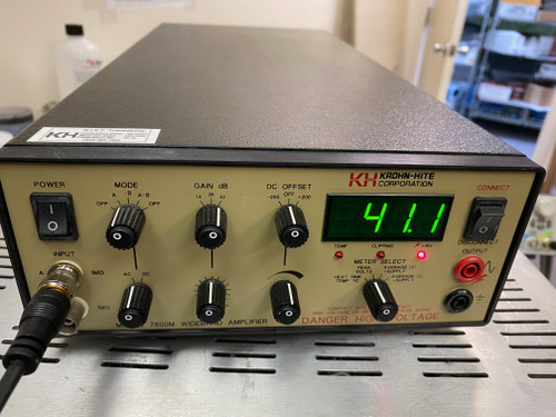 Krohn-Hite Models 7600M Wide Band High Frequency Power Amplifier +/-200 V 1 MHz