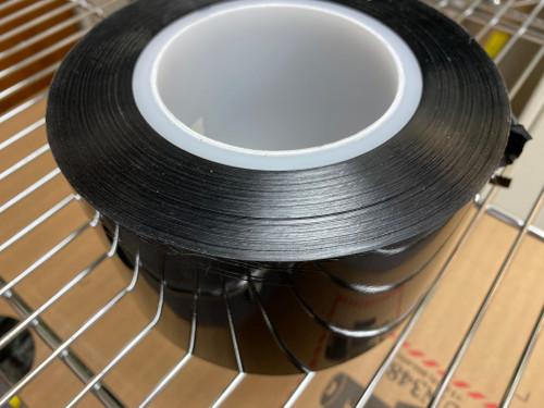 Ultrathin Free Standing Single Sided Tape 5 um x 80 mm wide black