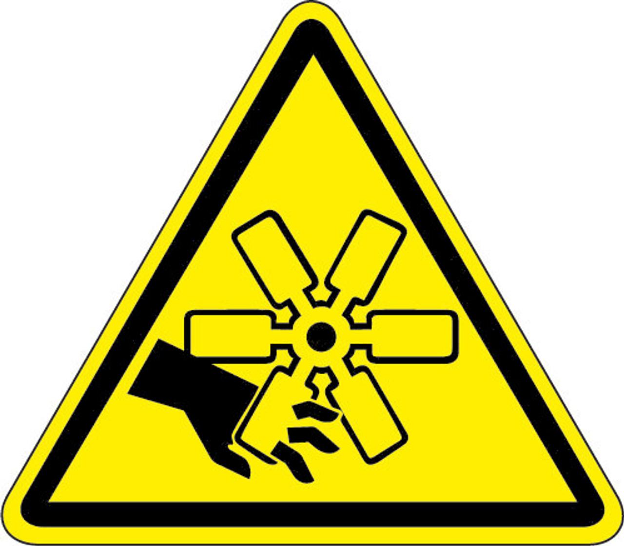 Cut Or Crush Hazard (ISO Triangle Hazard Symbol)