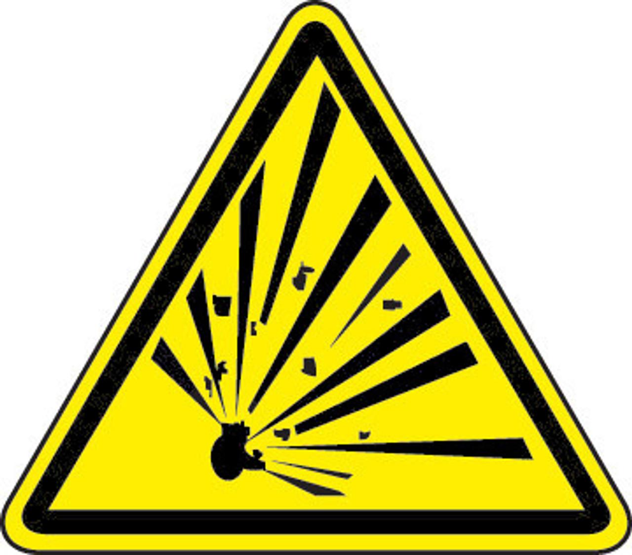 Explosive Material Hazard (ISO Triangle Hazard Symbol)