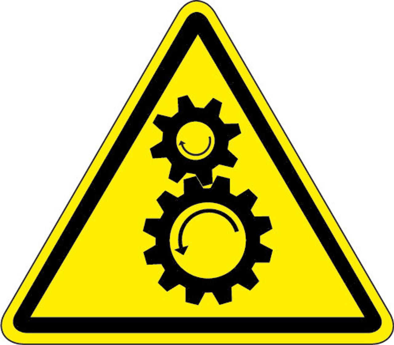 Pinch Point Or Entanglement Hazard (ISO Triangle Hazard ...