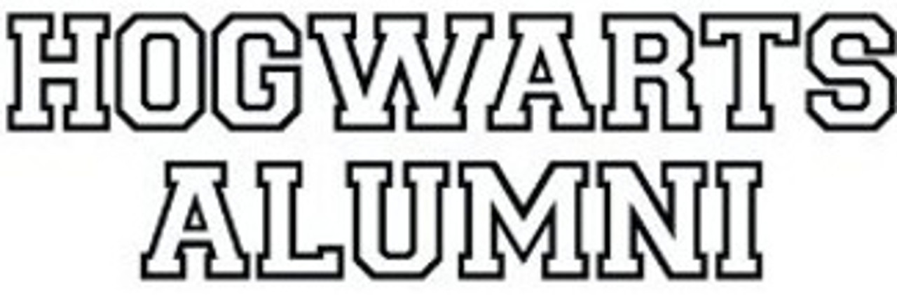 Harry Potter Hogwarts Alumni WindowLaptopWall Decal...You choose the size and color!