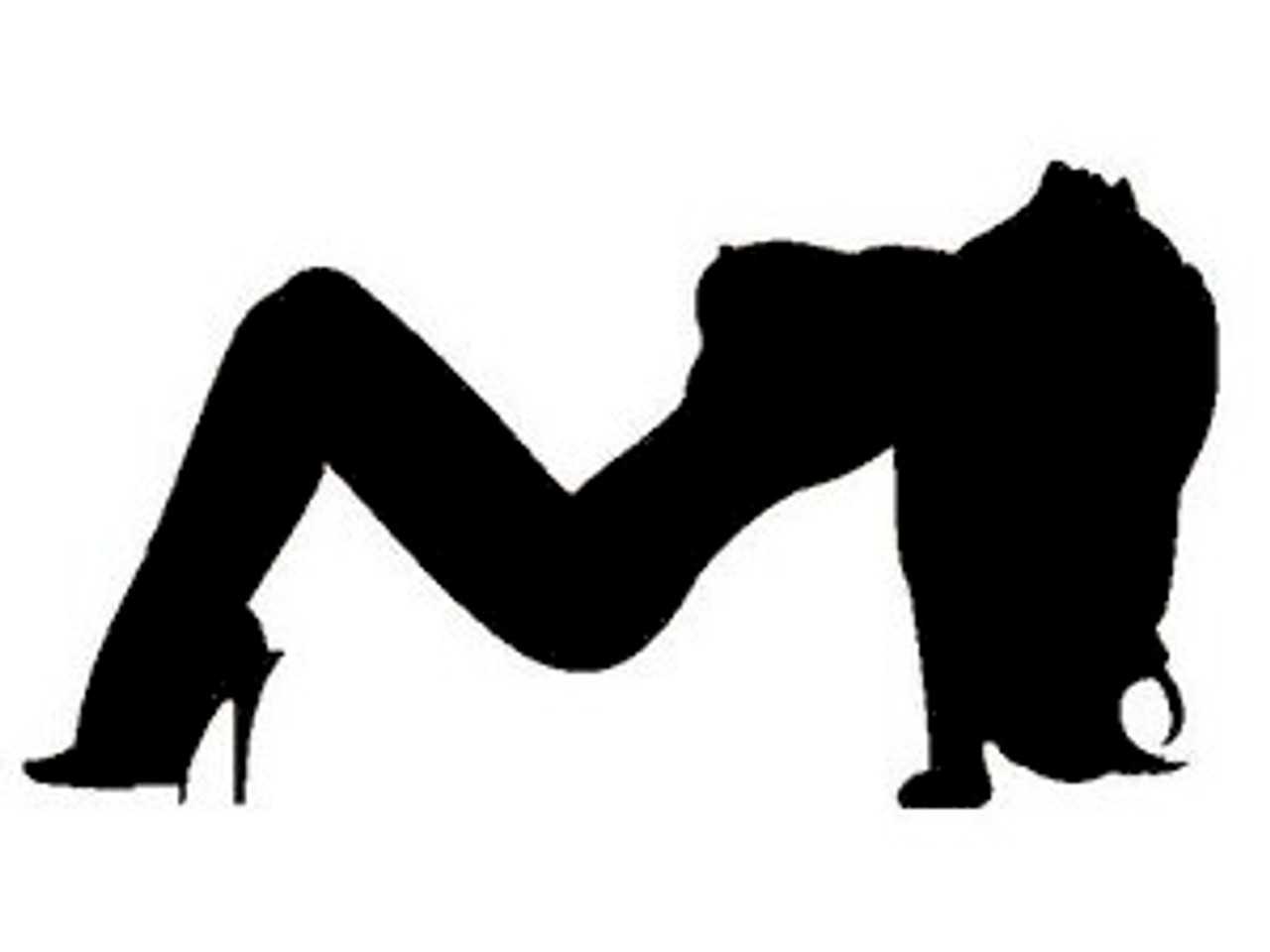 Sexy girl silhouette decal