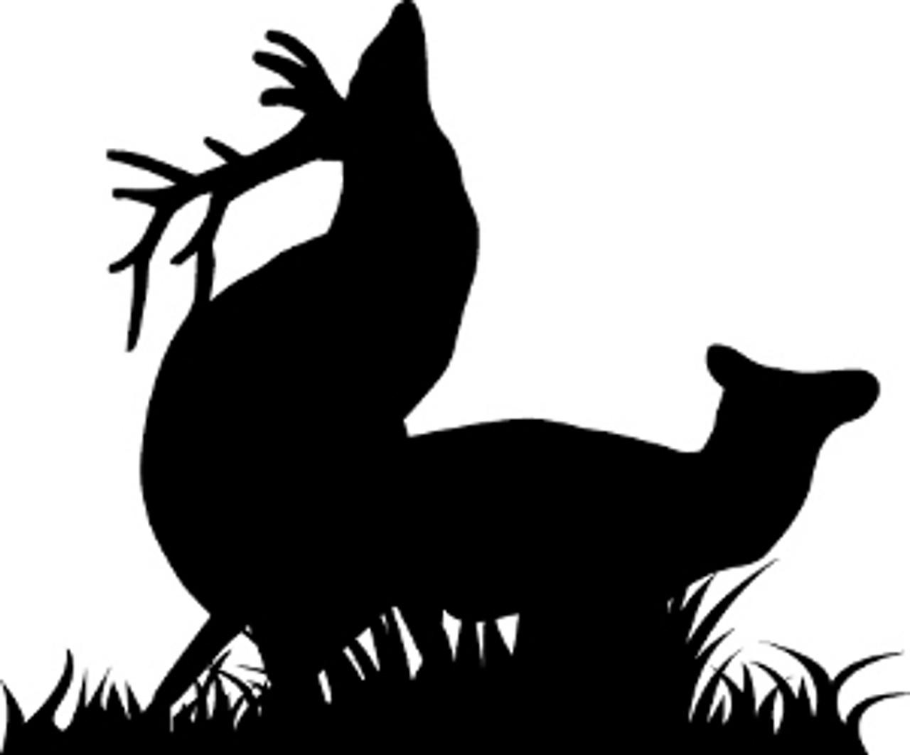 Buck Lying Down Sticker Die Cut Decal deer doe hunting hunter