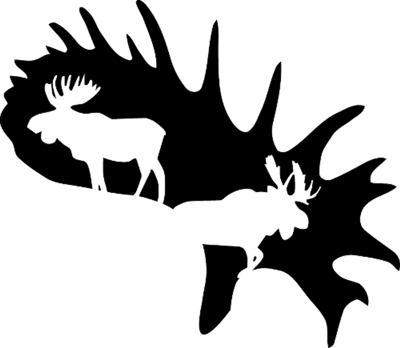 Moose Antler Decal