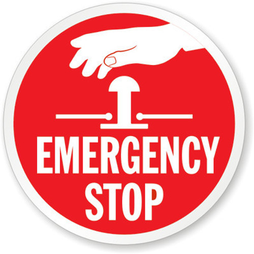 Safety Signs Emergency Stop Labels Inkace