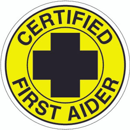 Hydrogen Sulfide Certified Hardhat Sticker