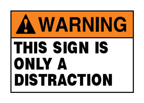 Safety Signs - ANSI Warning Signs - Page 1 - InkAce