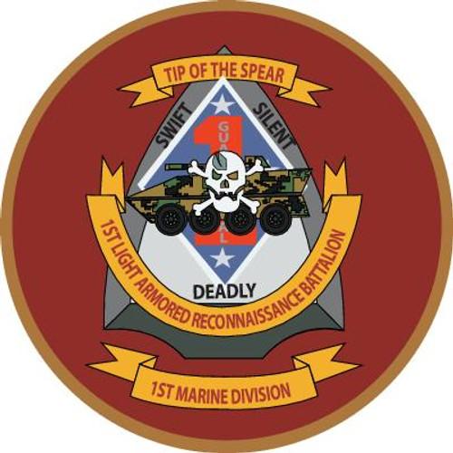 STICKER USMC UNIT   4TH RECON BATTALION B