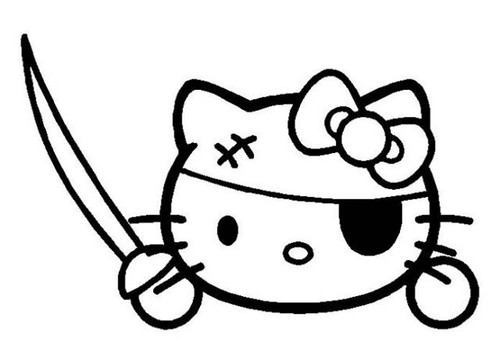 Hello Kitty Pirate Decal Sticker  ** Free Shipping **