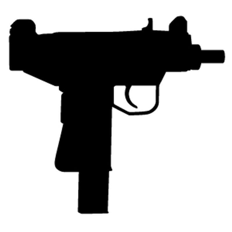 Uzi Machine Gun Decal